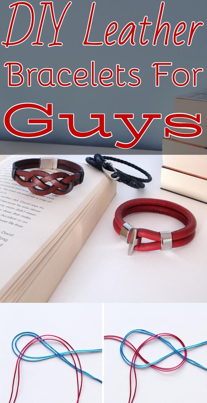 DIY Leather Bracelets For Guys