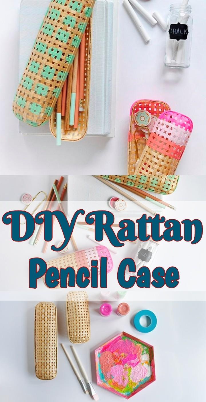 DIY Rattan Pencil Case
