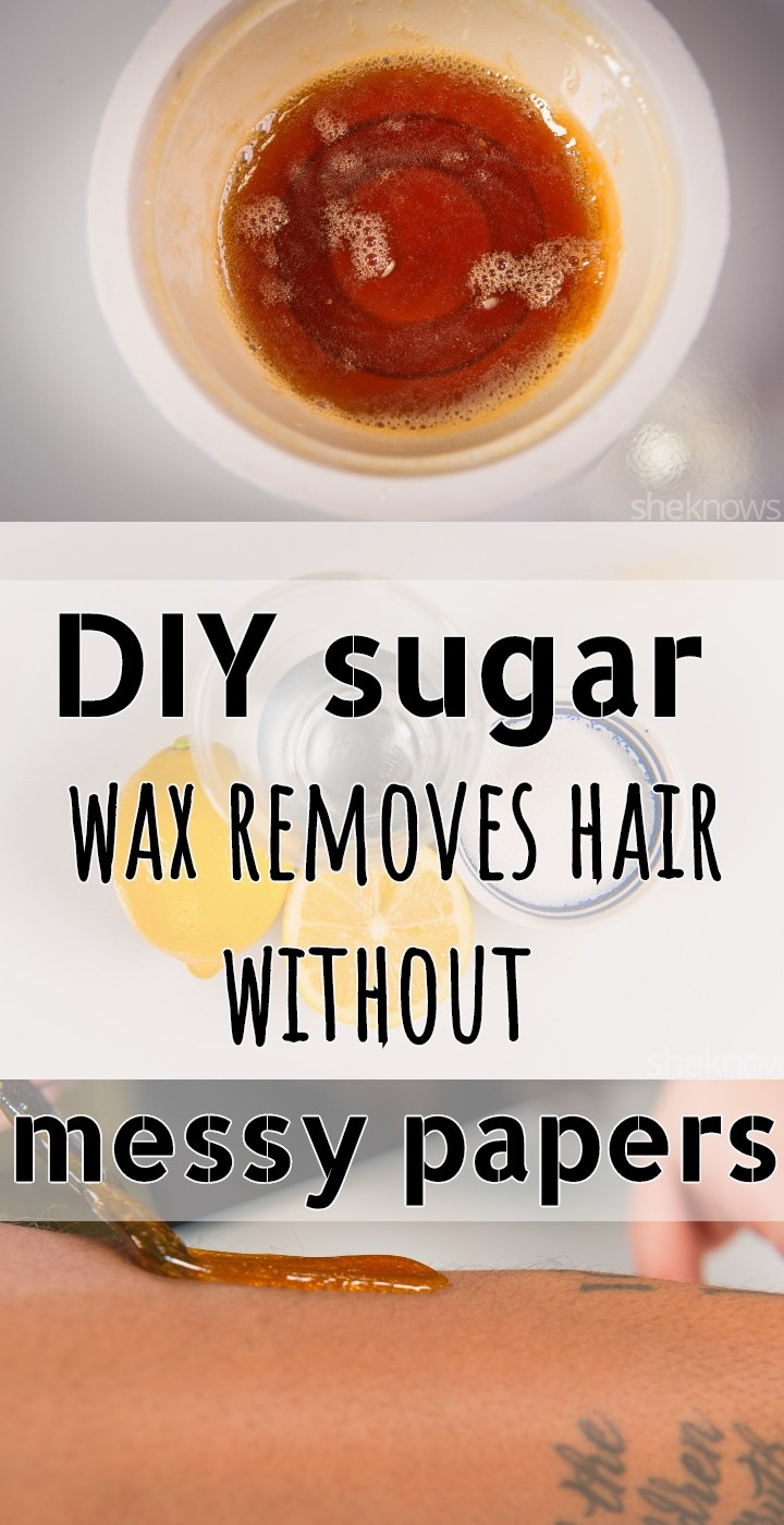 DIY Sugar Wax Removes Hair Without Messy Papers