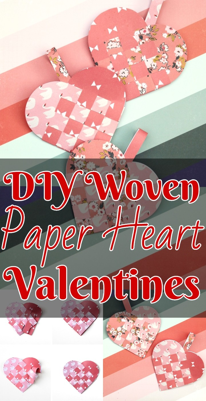 DIY Woven Paper Heart Valentines
