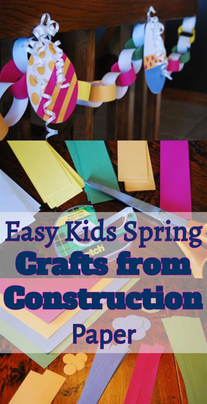 Easy Kids Spring Crafts from Construction Paper