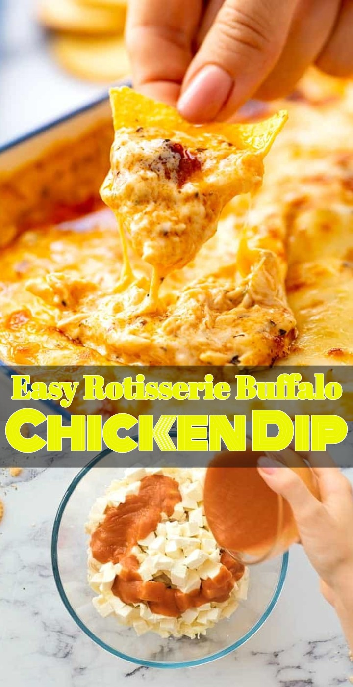 Easy Rotisserie Buffalo Chicken Dip