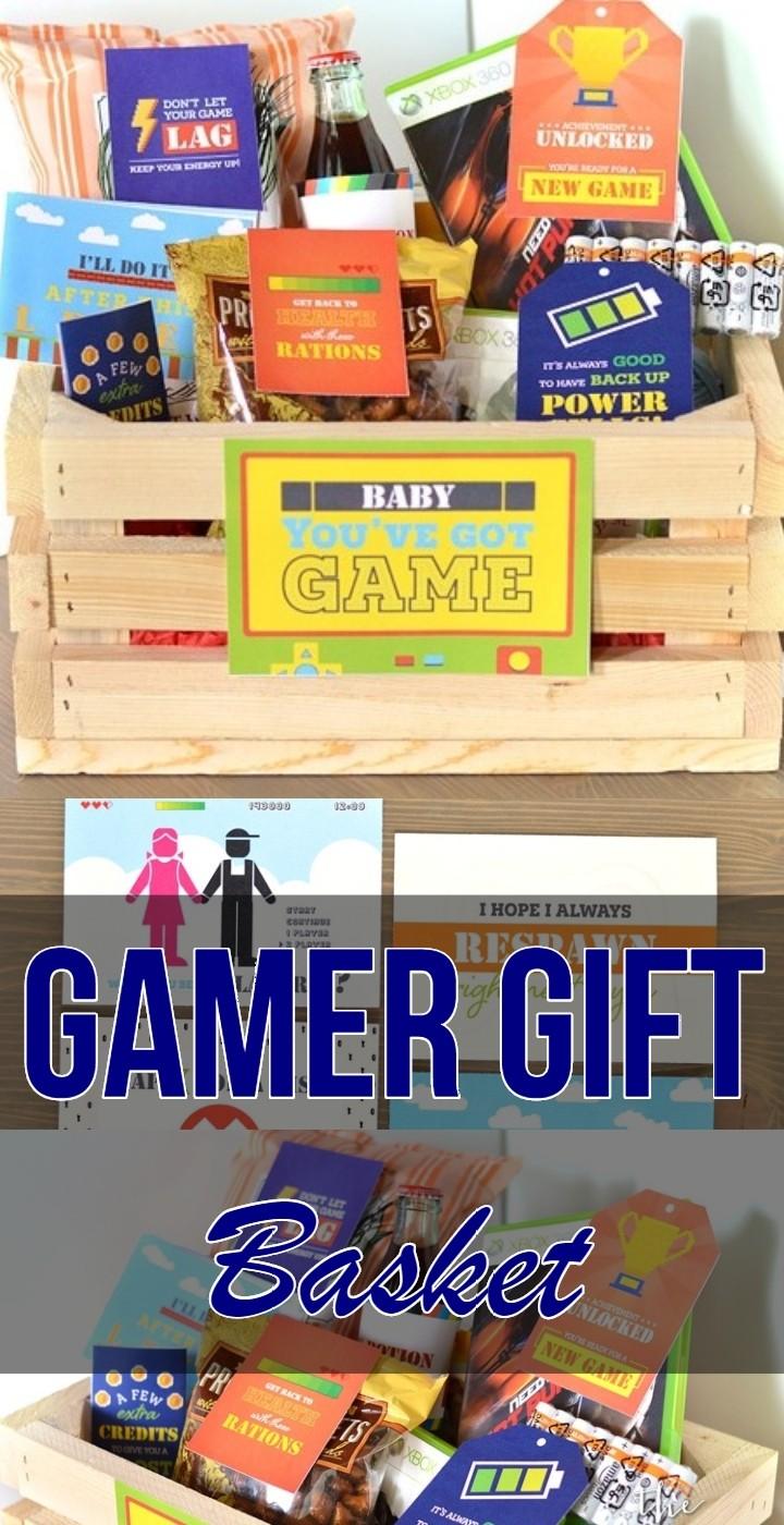 Gamer Gift Basket