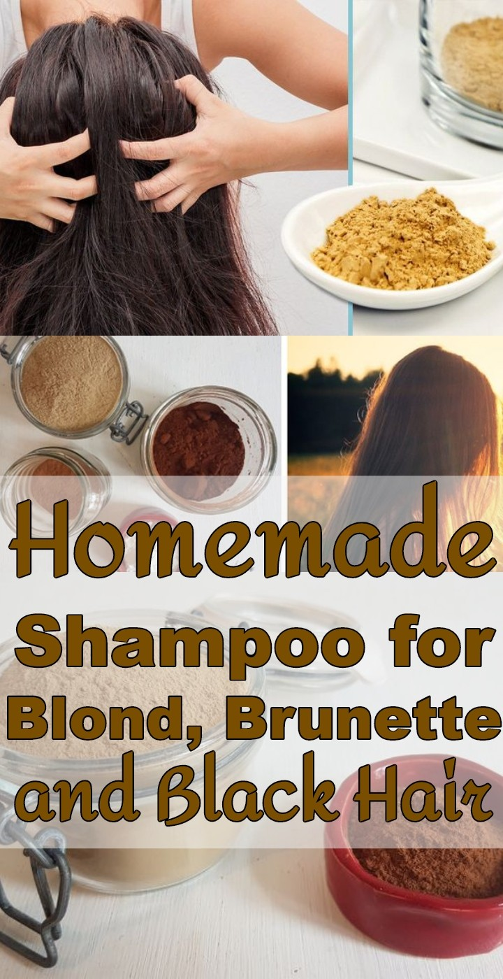 Homemade Shampoo for Blond Brunette and Black Hair