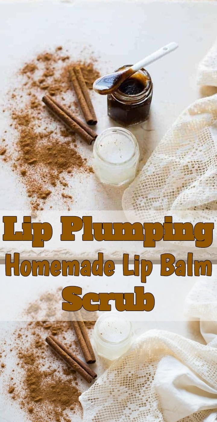 Lip Plumping Homemade Lip Balm Scrub