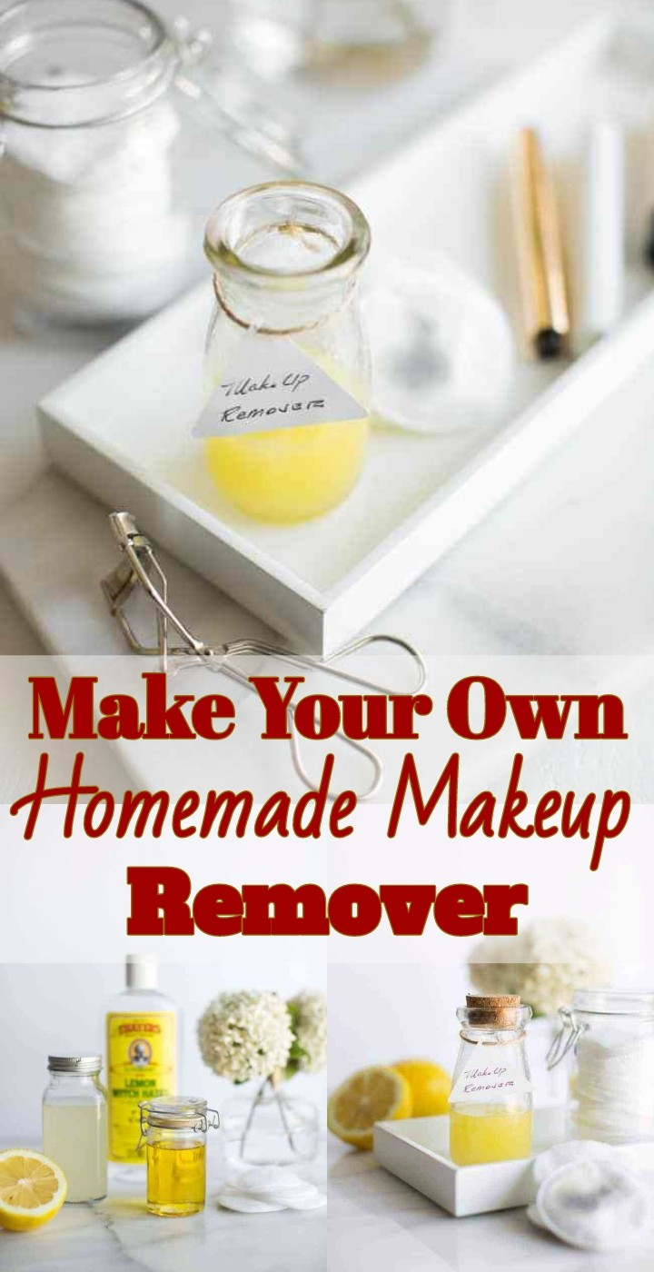 Make Your Own Homemade Makeup Remover
