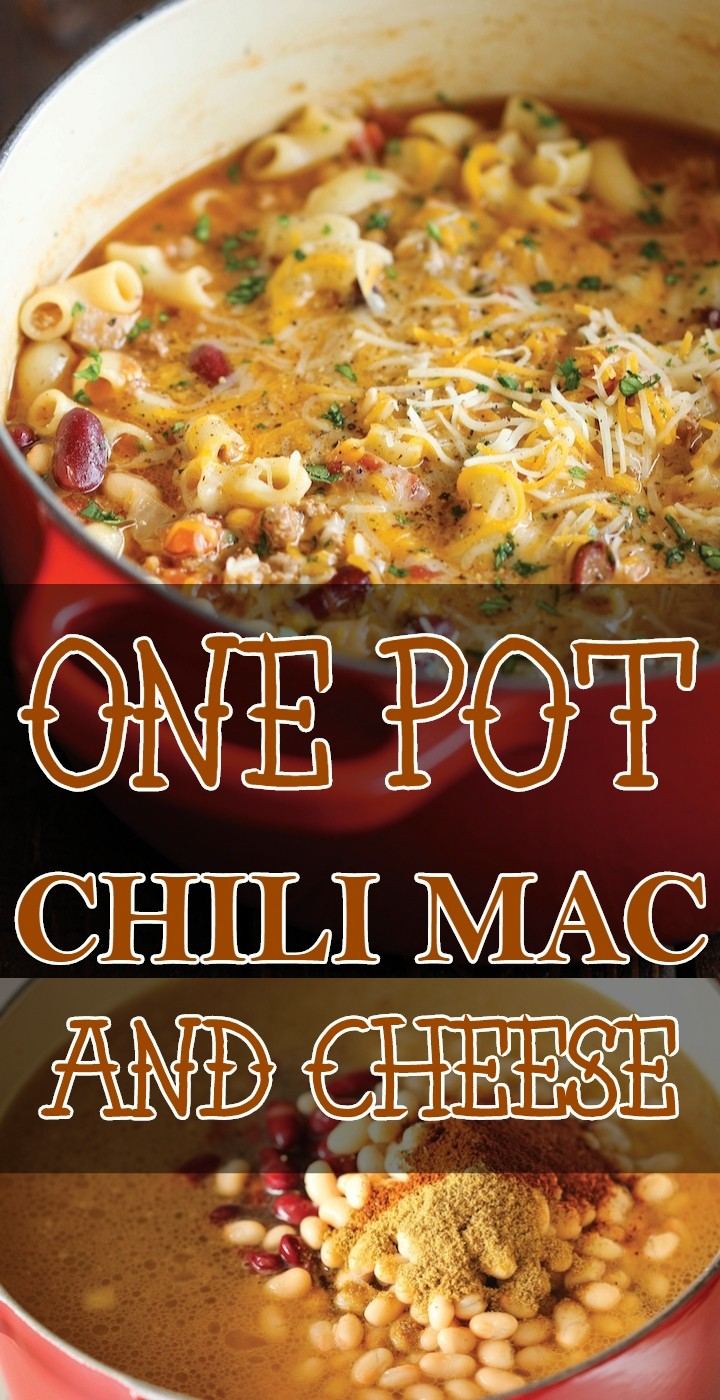 One Pot Chili Mac And Cheese