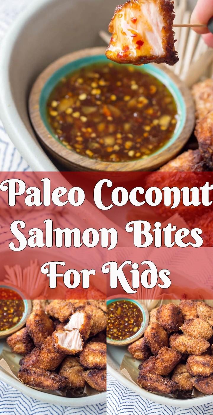 Paleo Coconut Salmon Bites For Kids