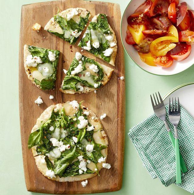 vegetarian recipe spinach pita pizza 1567097013