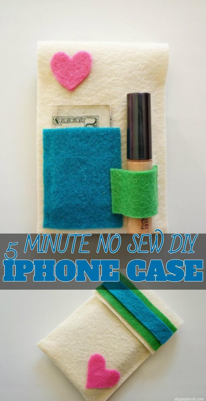 5 Minute No Sew DIY Iphone Case
