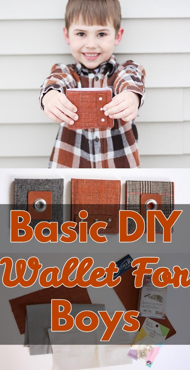 Basic DIY Wallet For Boys