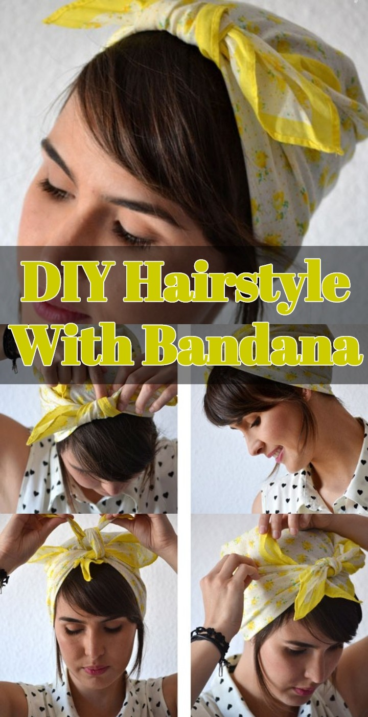 DIY Hairstyle With Bandana
