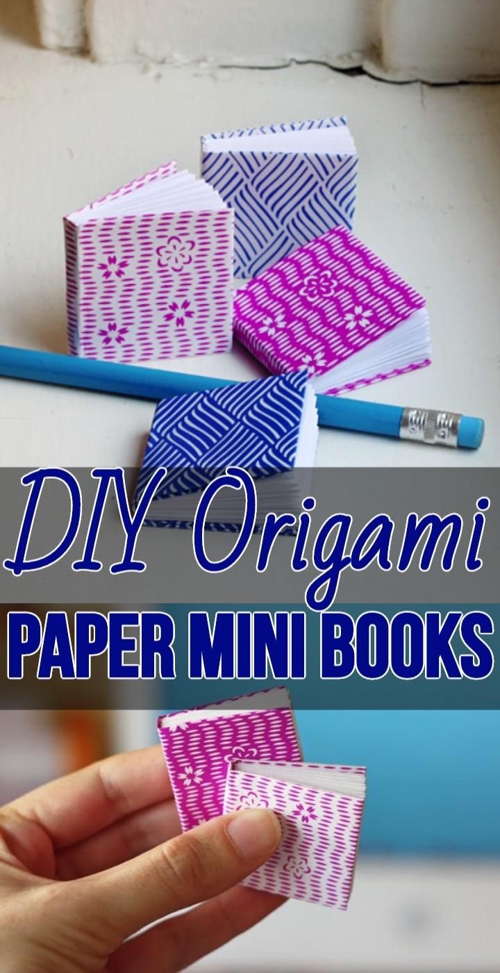 DIY Origami Paper Mini Books