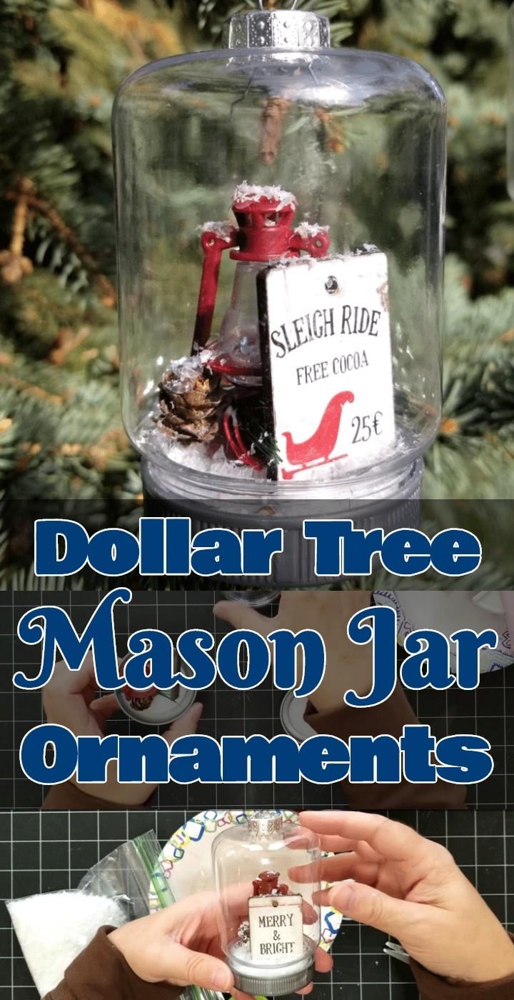 Dollar Tree Mason Jar Ornaments