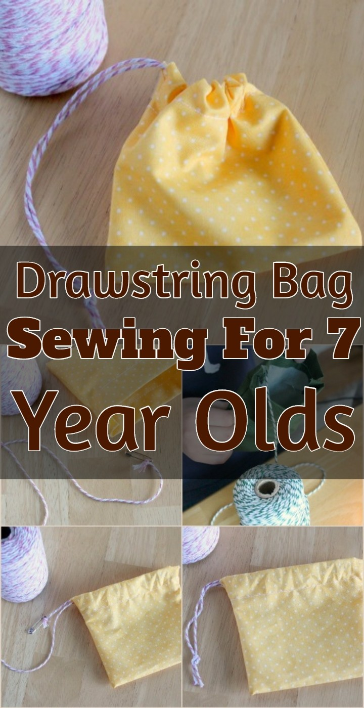 Drawstring Bag Sewing For 7 Year Olds