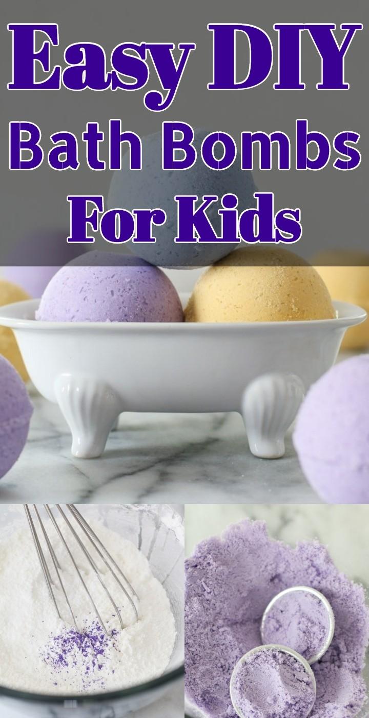 Easy DIY Bath Bombs For Kids