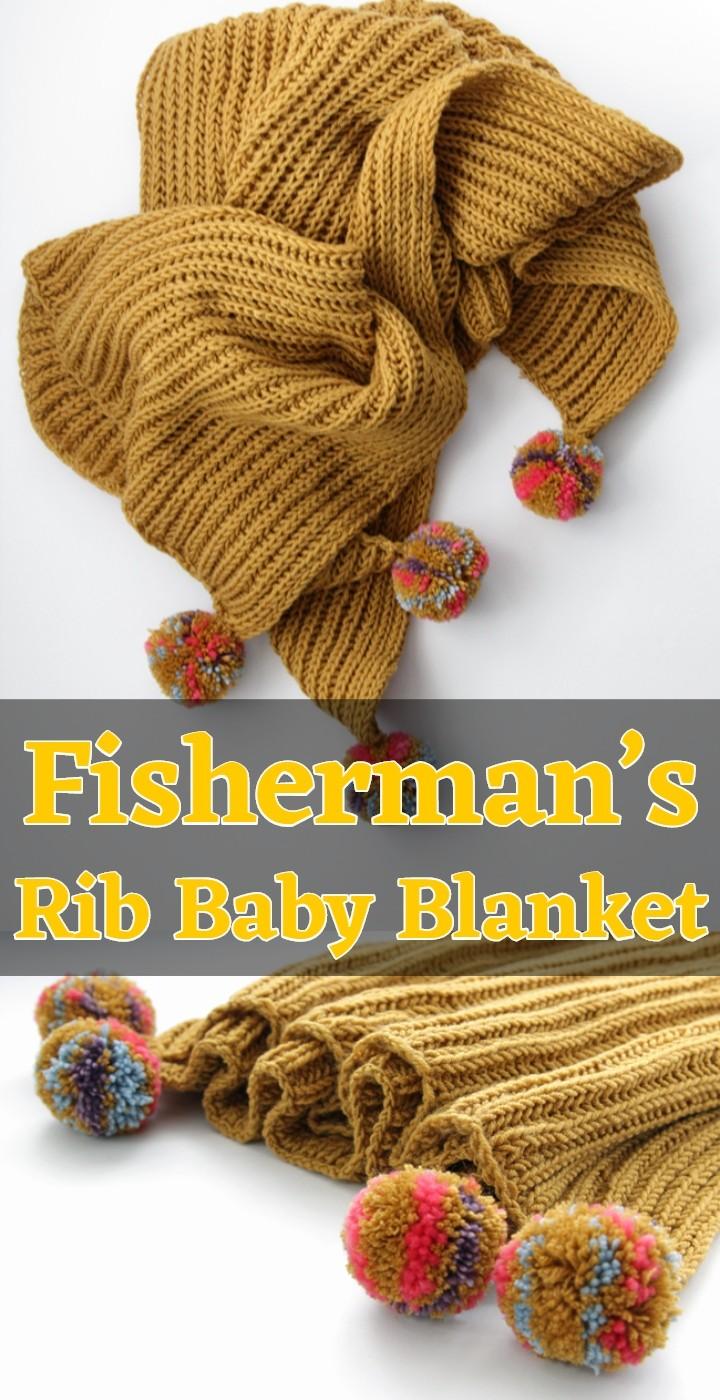 Fisherman's Rib Baby Blanket