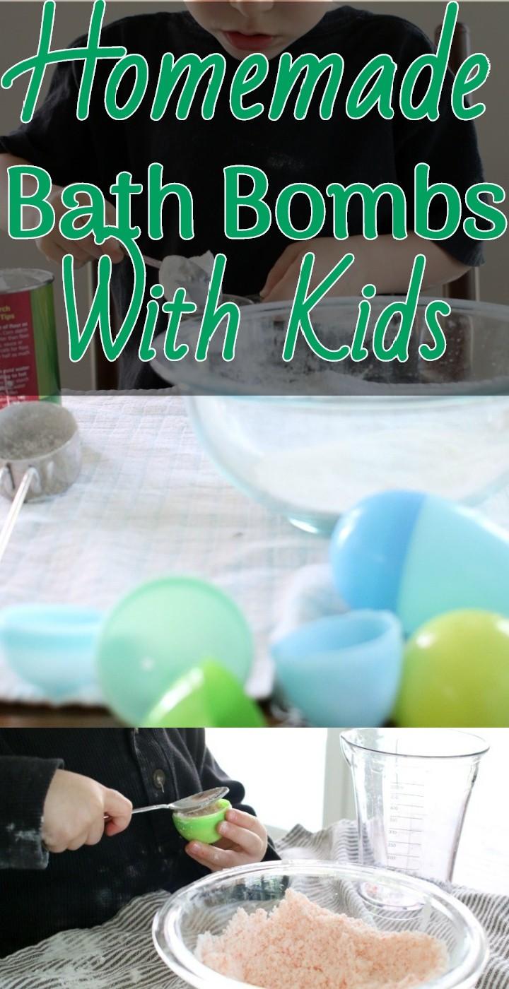 Homemade Bath Bombs With Kids