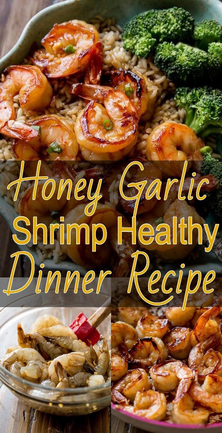 Honey Garlic Shrimp Healthy Dinner Recipe