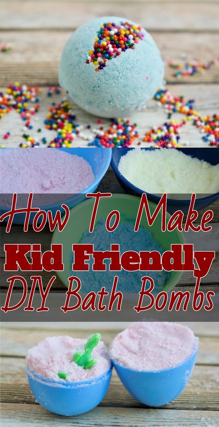 How To Make Kid Friendly DIY Bath Bombs
