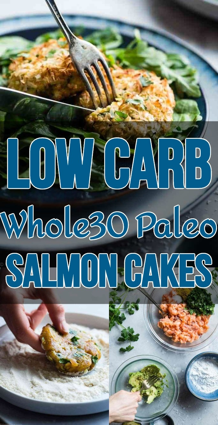 Low Carb Whole30 Paleo Salmon Cakes