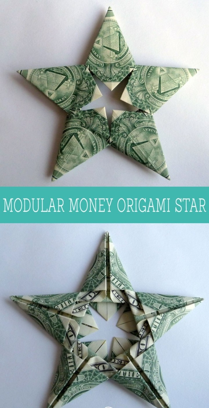 Modular Money Origami Star