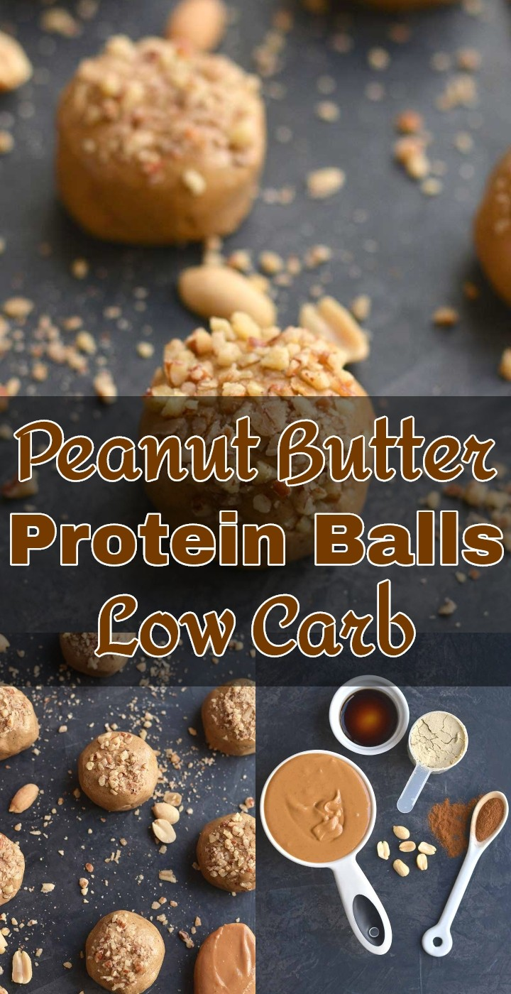 Peanut Butter Protein Balls Low Carb