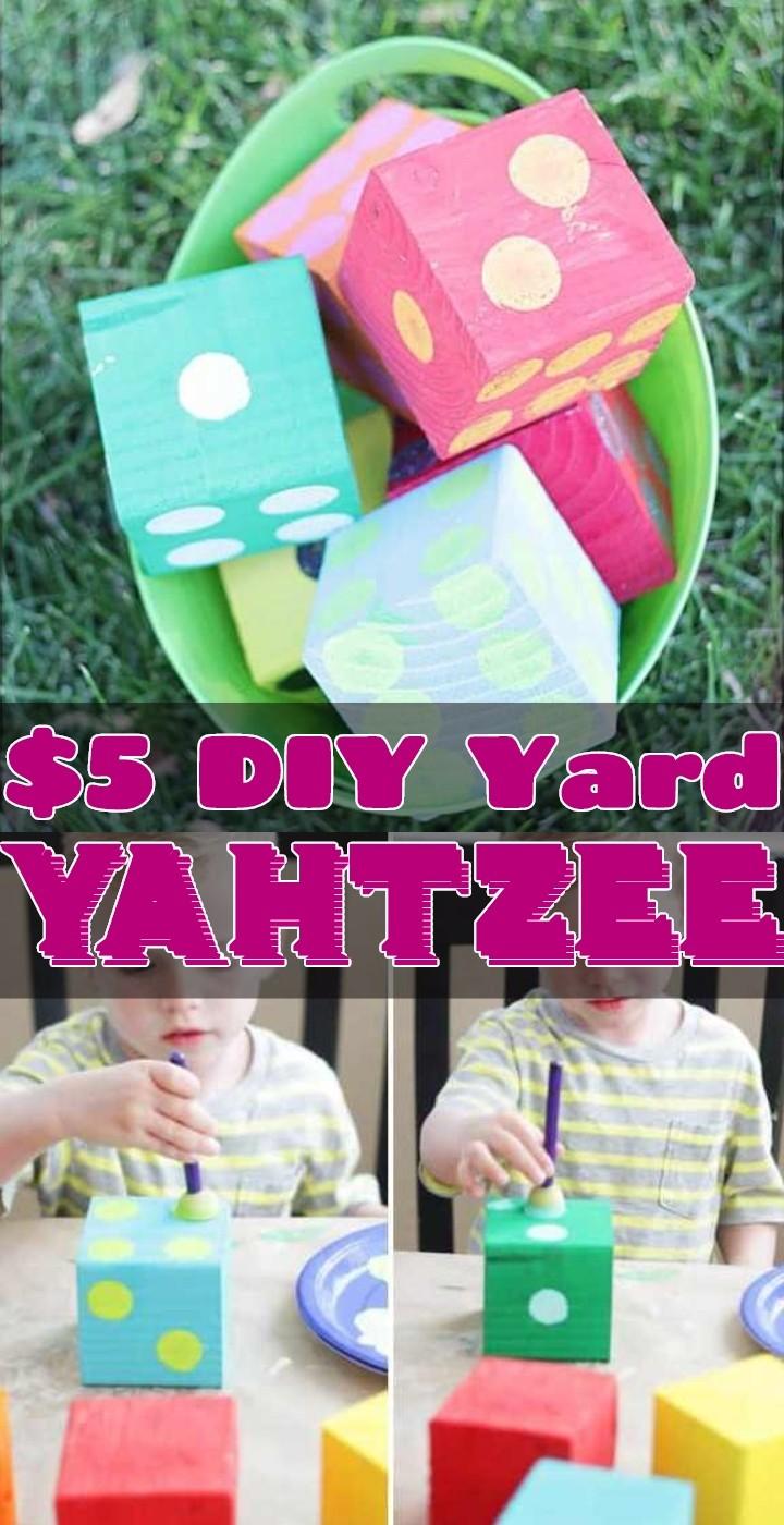 5 DIY Yard Yahtzee