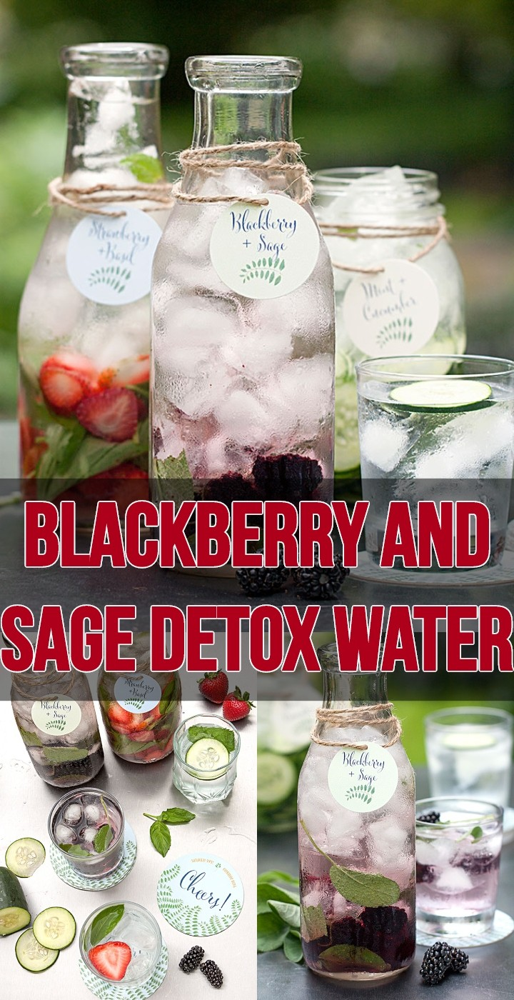 Blackberry And Sage Detox Water