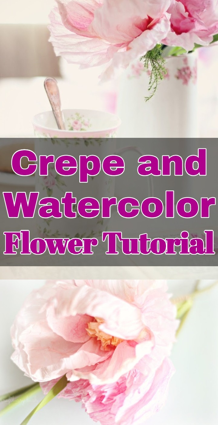 Crepe and Watercolor Flower Tutorial