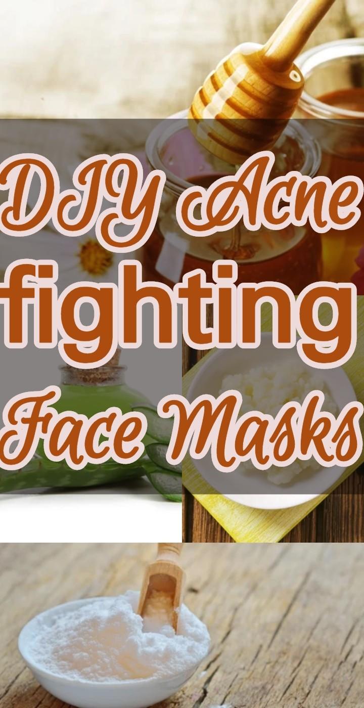 DIY Acne fighting Face Masks