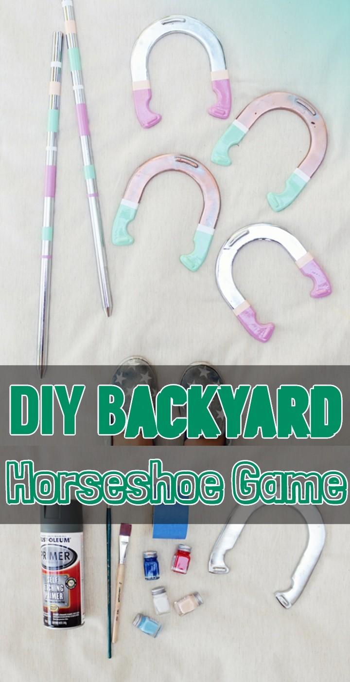 DIY Backyard Horseshoe Game