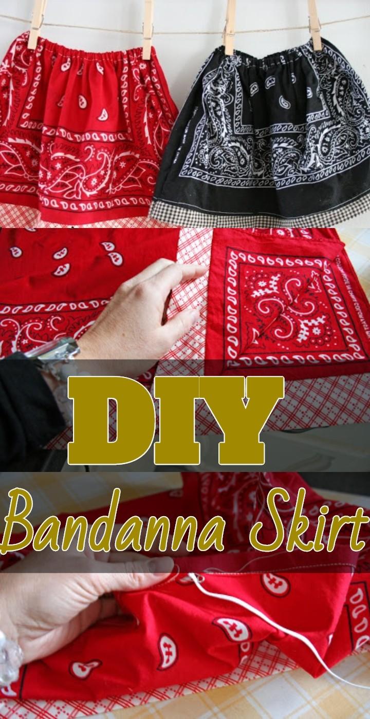 DIY Bandanna Skirt