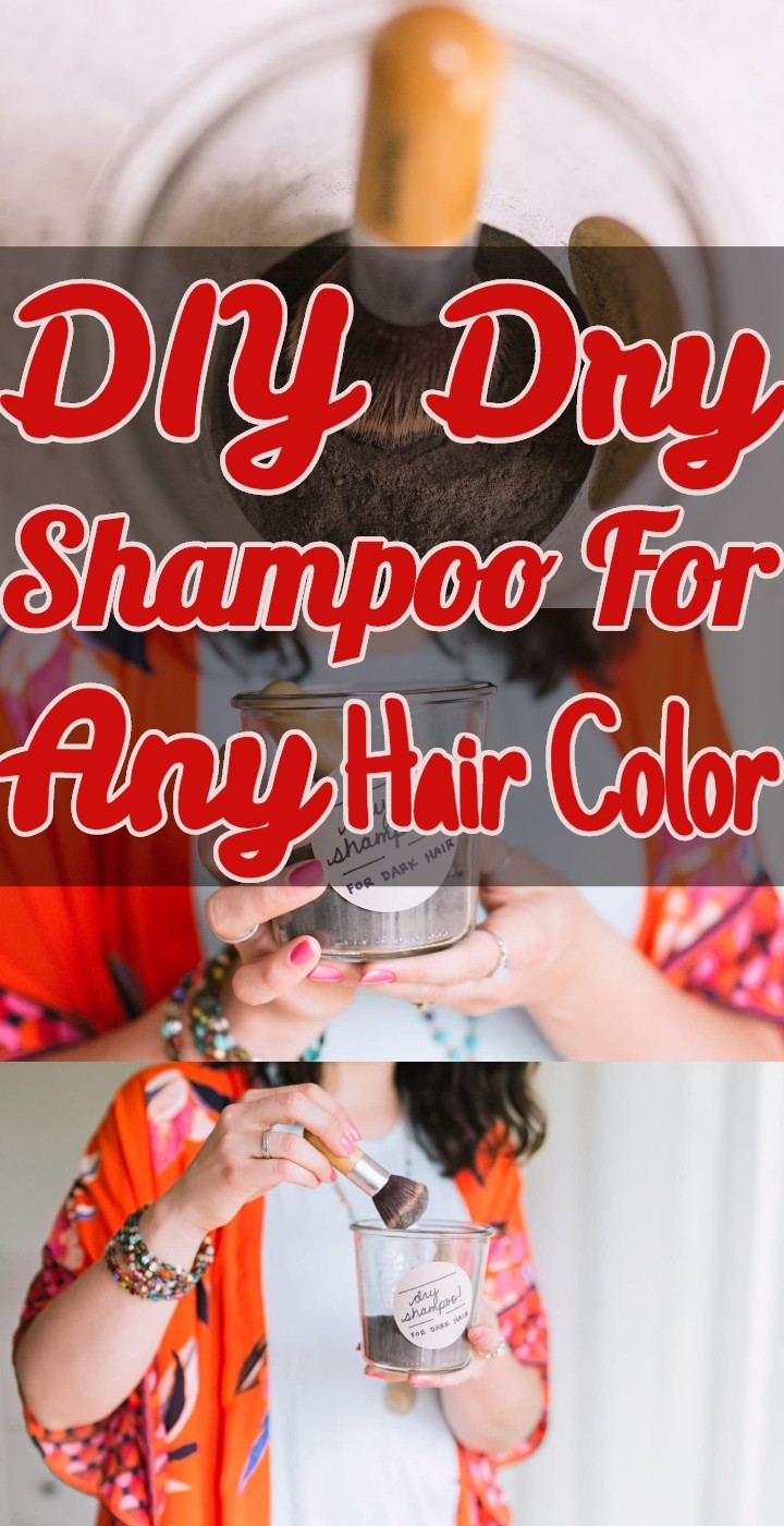 DIY Dry Shampoo For Any Hair Color