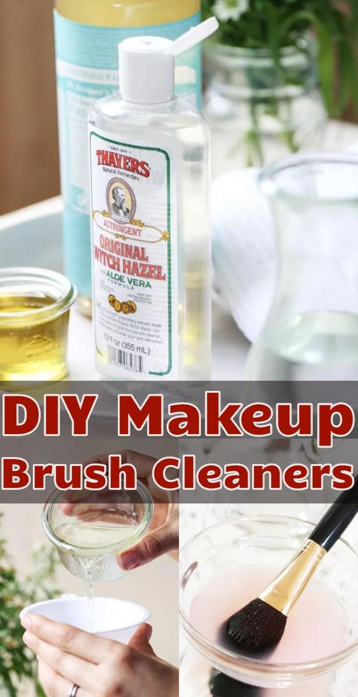 DIY Makeup Brush Cleaners