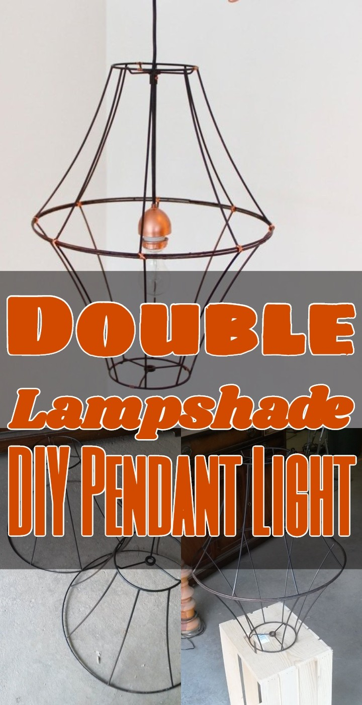 Double Lampshade DIY Pendant Light