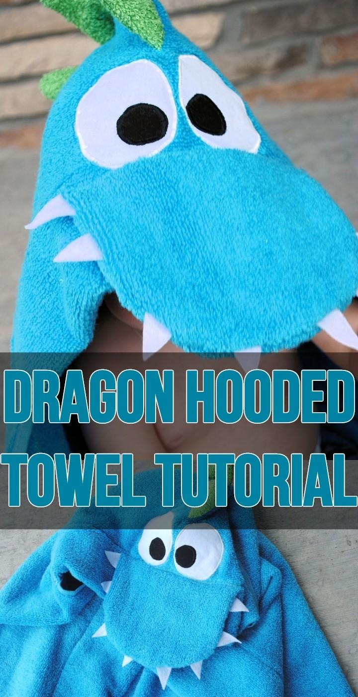 Dragon Hooded Towel Tutorial