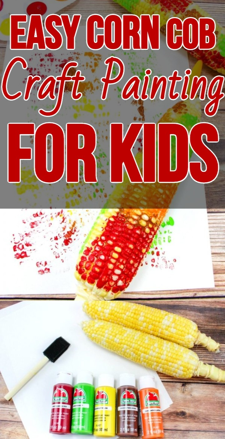 Easy Corn Cob Craft Painting for Kids