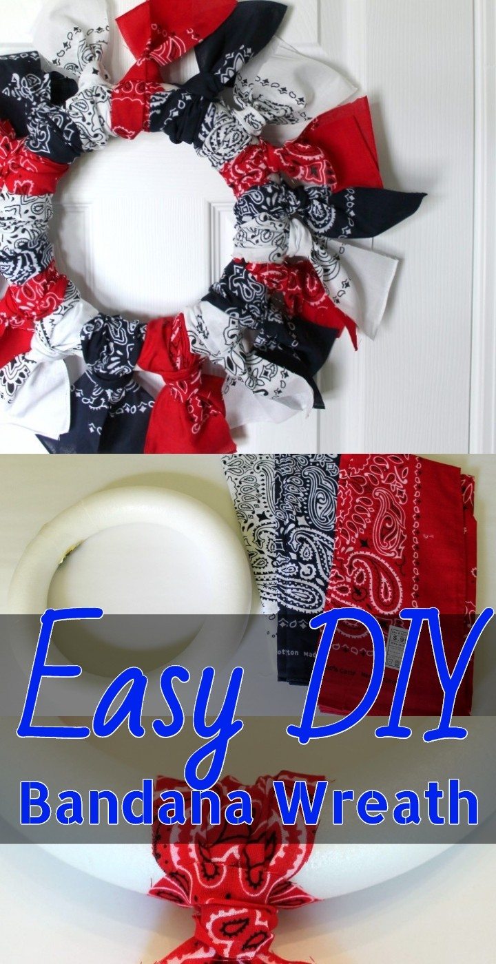 Easy DIY Bandana Wreath