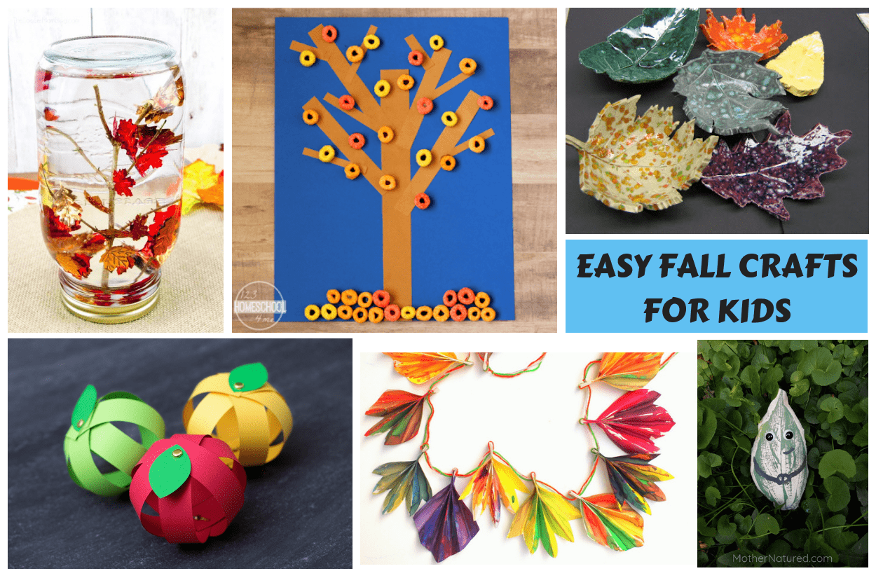 Easy Unique Fall Crafts For Kids With Instructions