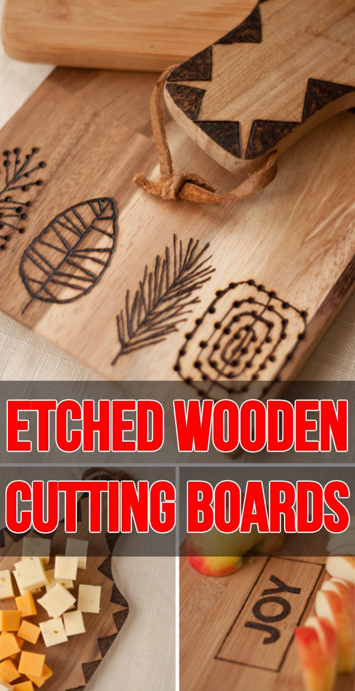 Etched Wooden Cutting Boards