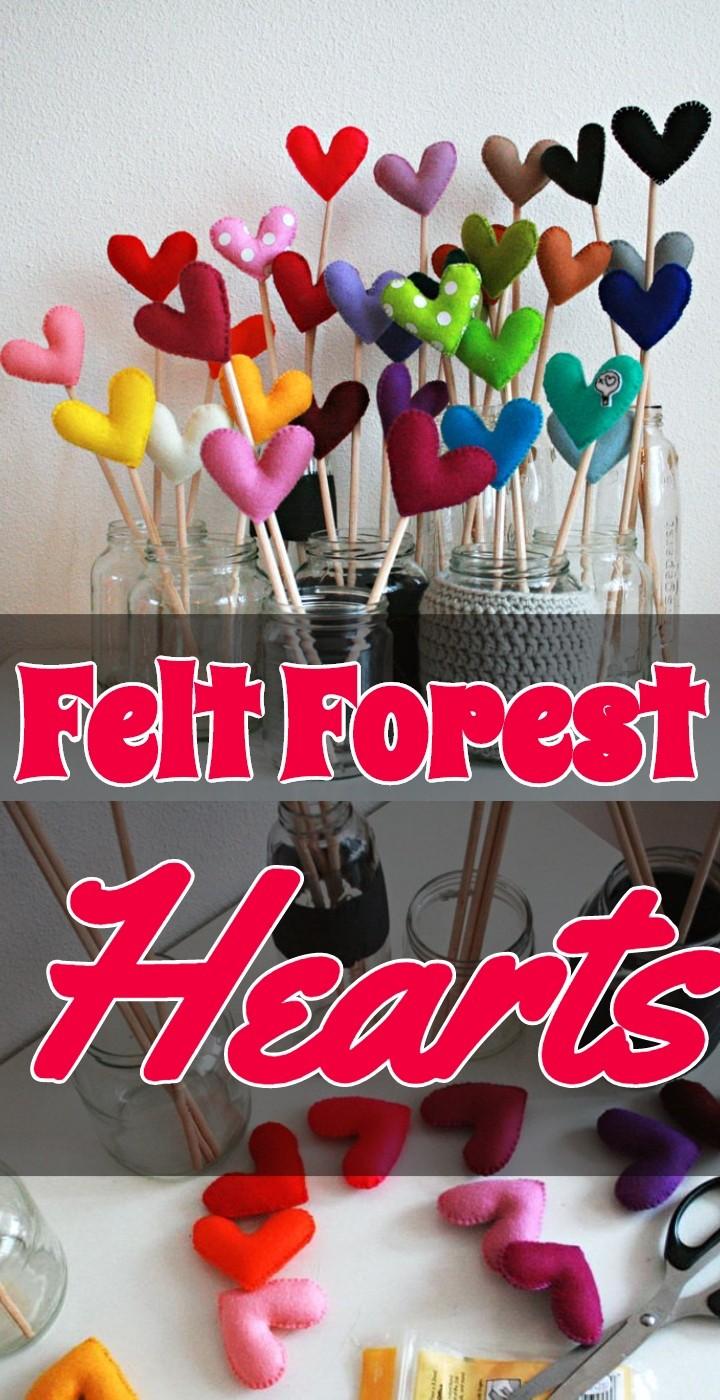 Felt Forest Hearts
