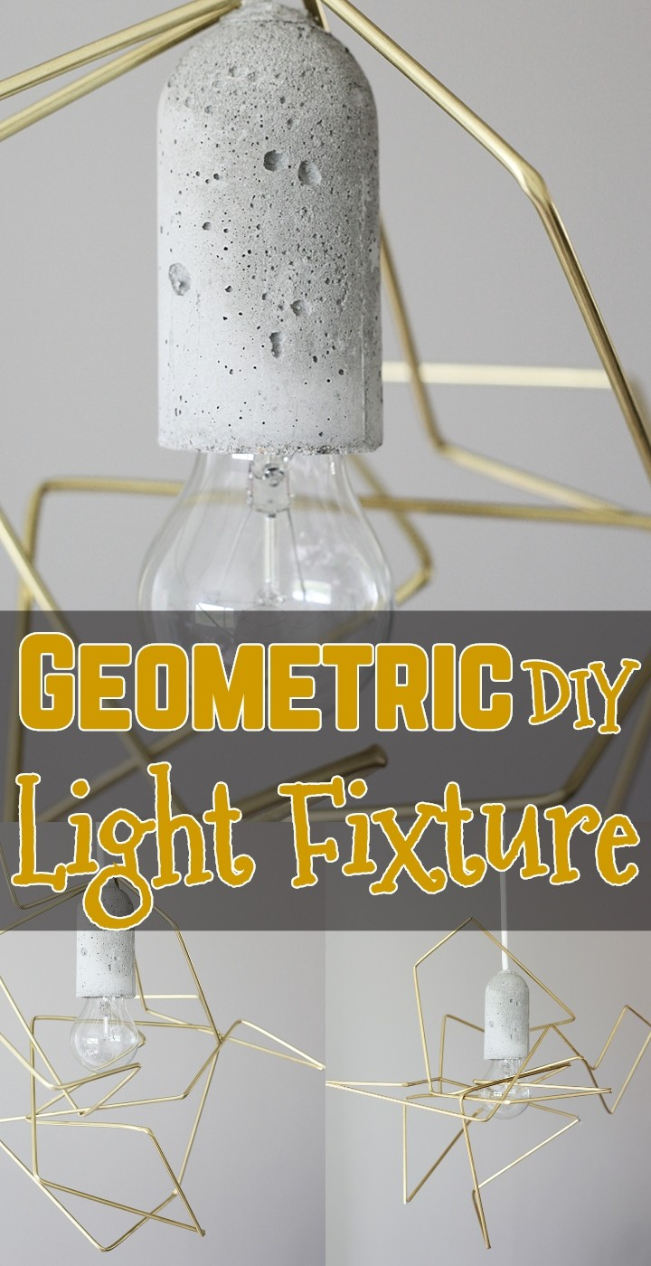 Geometric DIY Light Fixture