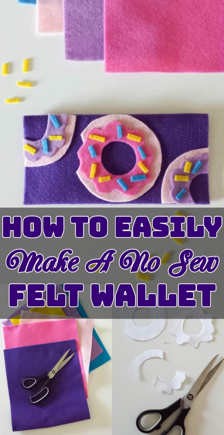 How To Easily Make A No Sew Felt Wallet