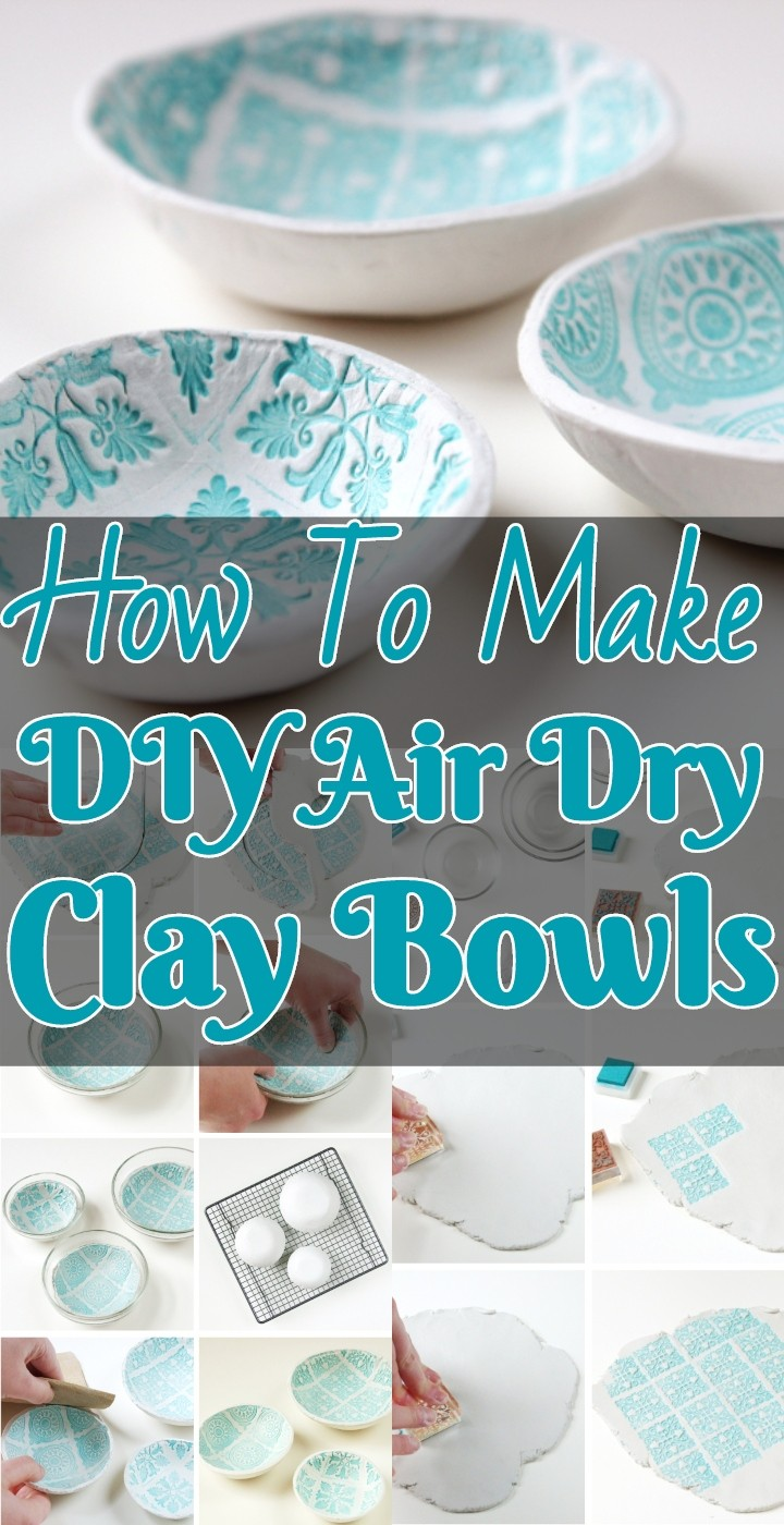 How To Make DIY Air Dry Clay Bowls
