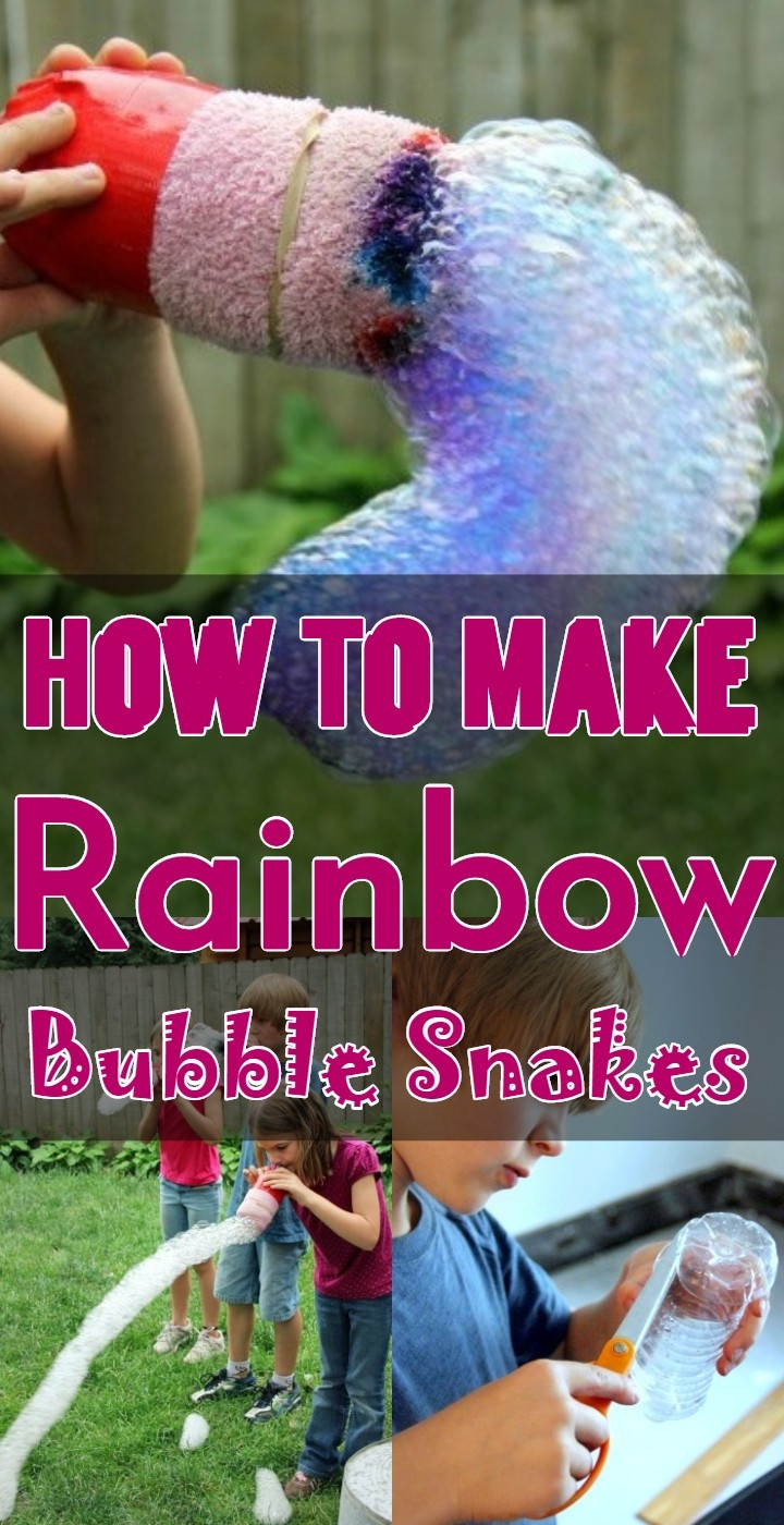 How To Make Rainbow Bubble Snakes