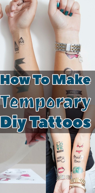 How To Make Temporary Diy Tattoos