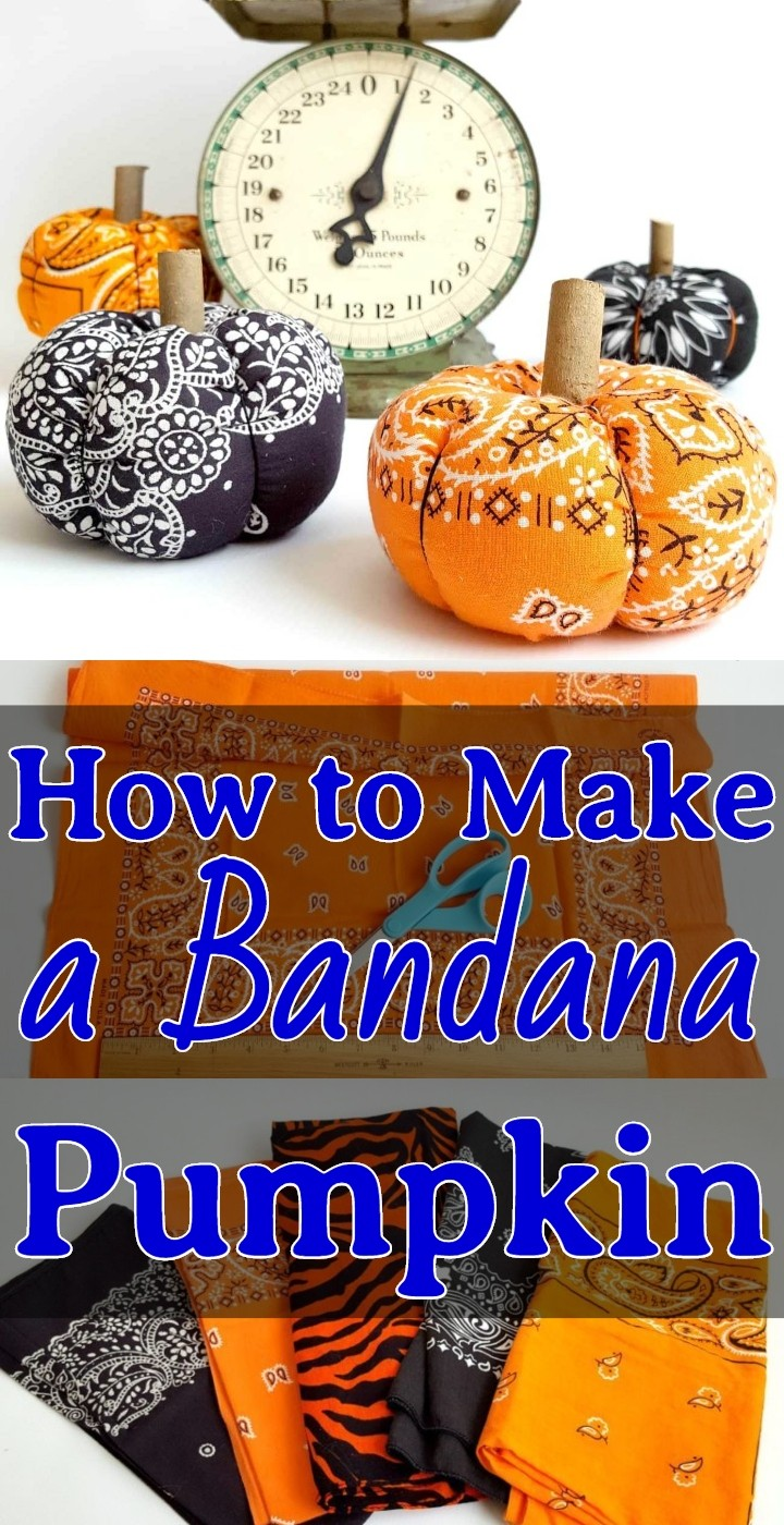 How to Make a Bandana Pumpkin