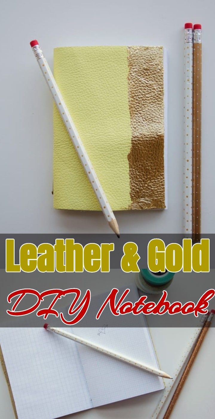 Leather Gold DIY Notebook