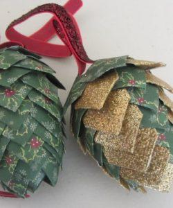 Paper Pine Cone Tutorial - Paper Pine Cones Pattern